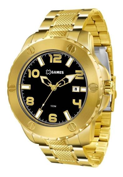 Relógio Masculino X Games Xmgs1026 P2kx Big Case Dourado