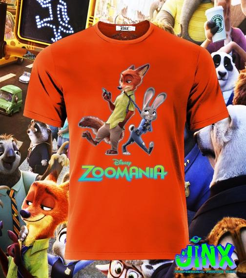 Playera Camiseta Zootopia Coneja Zorro Disney Personajes Todas Las Tallas Unisex