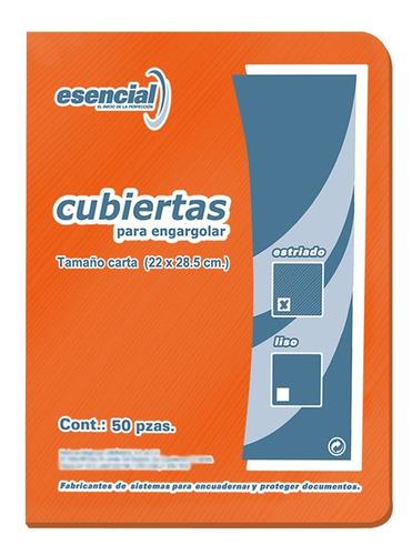 Imagen 1 de 6 de Esencial Cubiertas Para Encuadernar Estriadas T/c 50 Pzas