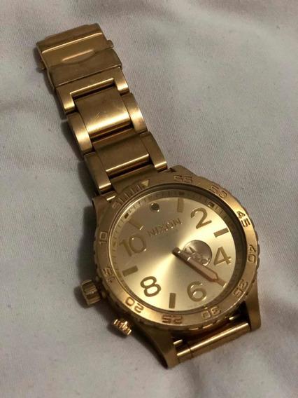 Relógio Nixon 51-30 Dourado. Original.