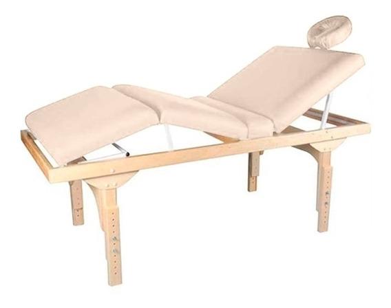 Maca De Massagem Fixa Altura Regulável Belatrix Spa - Legno