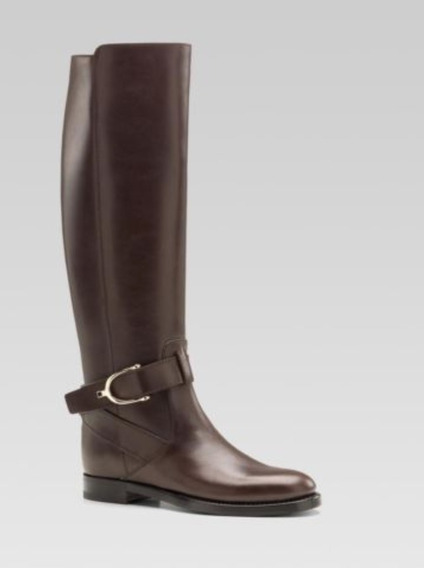 Gucci Equestrian High Riding Boots Leather 36.5 Certif