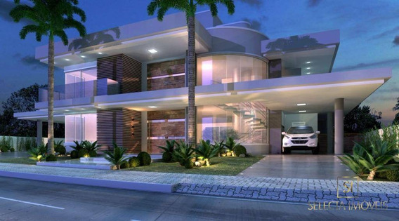 Casa Com 02 Pavimentos, 04 Suítes, Piscina, Garagem, 656 M² Em Condomínio Alto Padrão. - Ca0019