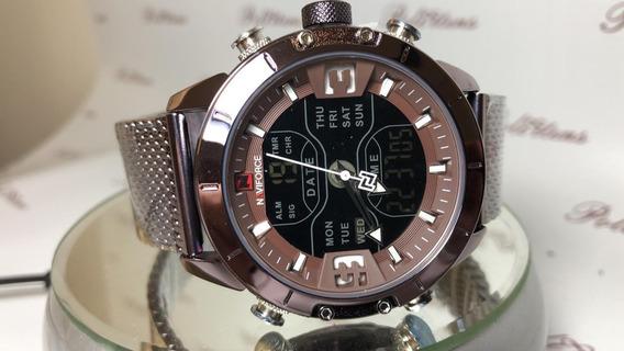 Relógio Masculino De Pulso Naviforce 9153 Esportivo K3891