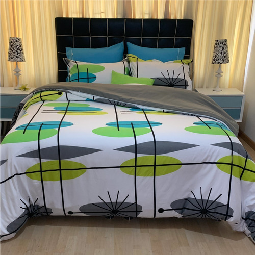 Funda Duvet Queen Estampado Ovalos