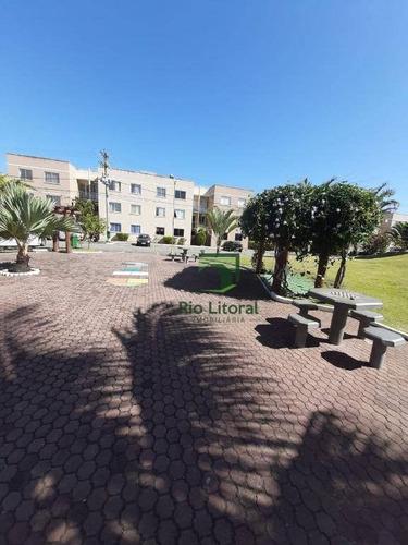 Rio Litoral Oferece Para Venda, Apartamento Em Condomínio Fechado No Jardim Marilea - Rio Das Ostras - Ap0575