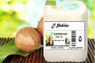 Aceite De Coco Natural Prensado Frío 5 Litros Materia Prima