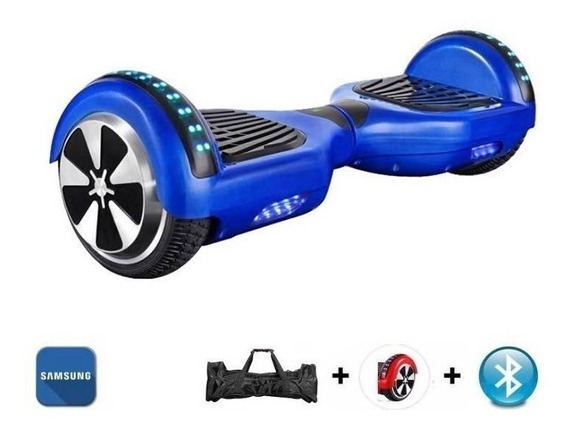 Hoverboard 6.5 Azul Bluetooth Led Lateral+frontal Bat Samsun