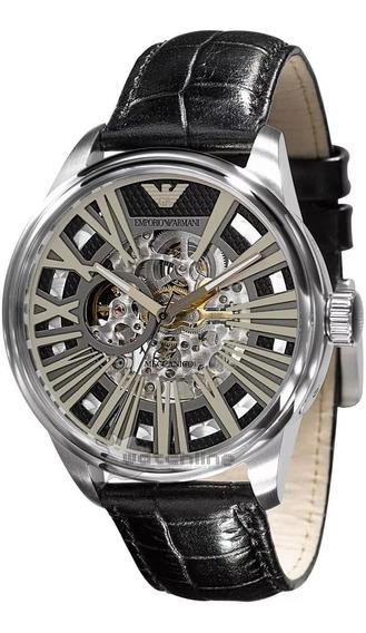 Relógio Emporio Armani Ar4629 Preto Automático Couro Caixa