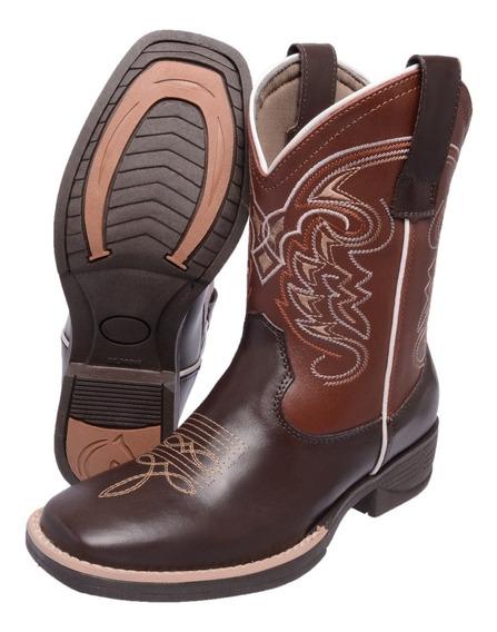 Bota Texana Feminina Montaria Cano Médio Bordado Country 650