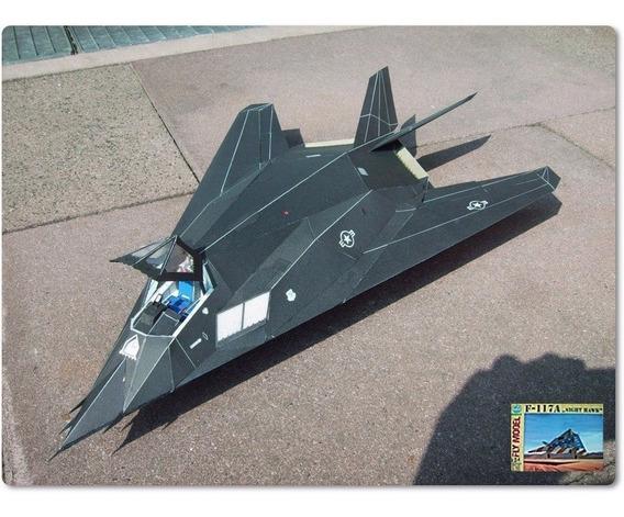 Projeto Pdf Papercraft Do Caça Americano F-117 1:33