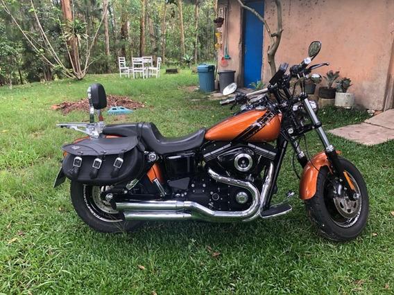 Fat Bob 2014 Harley Davidson Completa Com Acessórios, Linda!