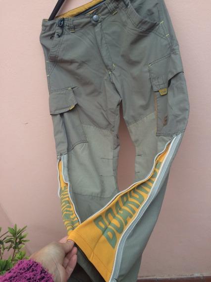 Pantalon Cargo Hombre Verde Se Abre Botamanga Talle 16 O Xs