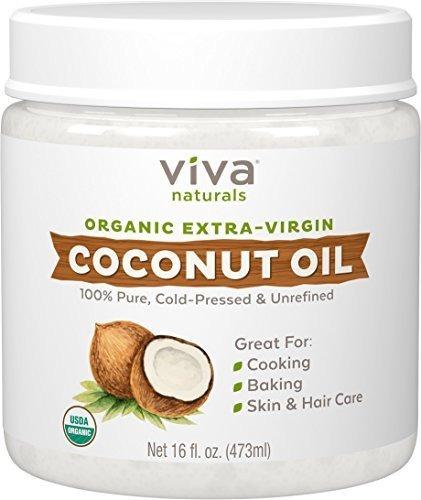 Aceite De Coco Virgen Extra Organico De Viva Naturals, 16 On