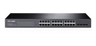 Switch Inteligente Gigabit Tp Link Sg2424 24 Port 4 Spf Qos