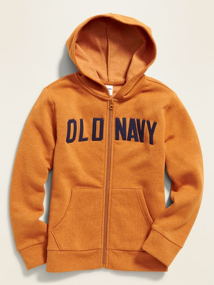 Sudadera Niño Hoodie Gorro Logo Bolsillos Abierta Old Navy
