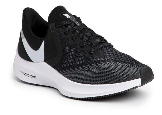 Zapatillas Running Nike Zoom Winflo 6 Negra Mujer Aq8228-003