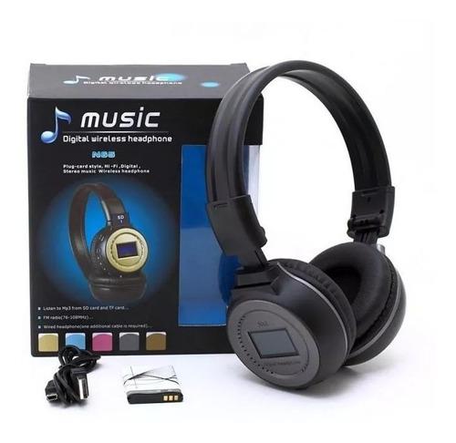 Audifonos Bluetooth Diadema Pantalla Microsd Radio Flexible