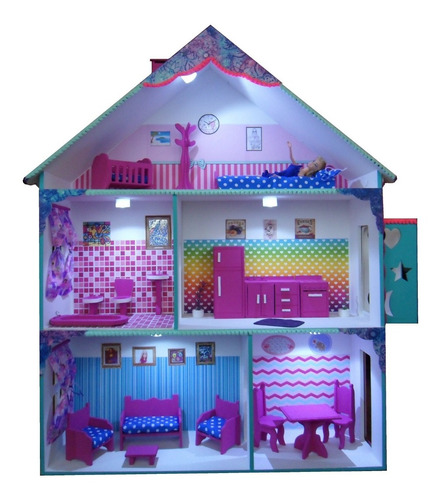 Casita De Muñeca Barbie Ascensor, Muebles, Casitas Jime