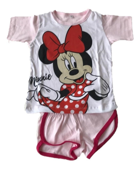 Pijamas Niña Con Manga Corta Y Pantalon Corto Estampado