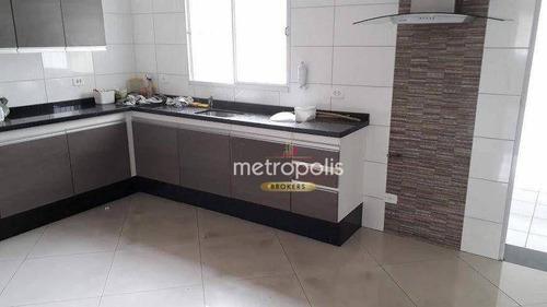 Imagem 1 de 14 de Sobrado Com 2 Dormitórios À Venda, 161 M² Por R$ 540.000,00 - Campestre - Santo André/sp - So1483