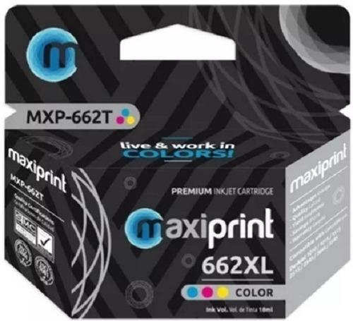 Cartucho Compatible Hp Marca Maxiprint 662 Tri Color Xl