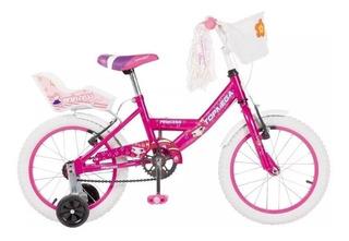 Bicicleta Nena Niña Cross Top Mega Princes R12 Ruedas +led