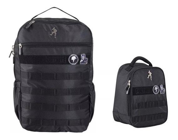 Mochila Primaria Y Lonchera Sec Prim Fortnite Backpack Tz340