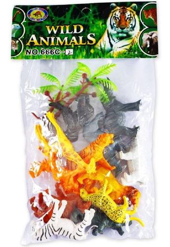 Imagem 1 de 3 de Brinquedo Conjunto Animais Da Selva No Saquinho Polibrinq