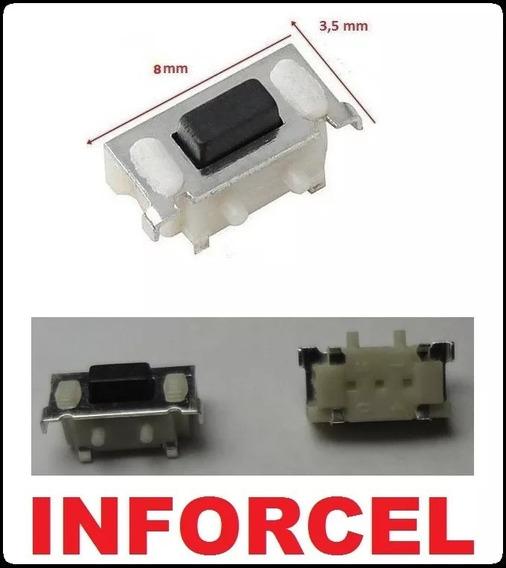 Chave Botão Power Ou Volume Tablet Navcity Nt-1711 *8mm*