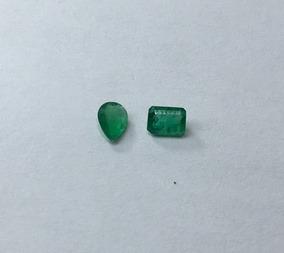 Esmeraldas Conjunto Pedras Naturais Gota E Retangular