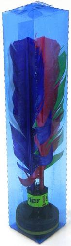 Imagem 1 de 1 de Kit Com 7 Petecas Lider Oficial Pena Colorida
