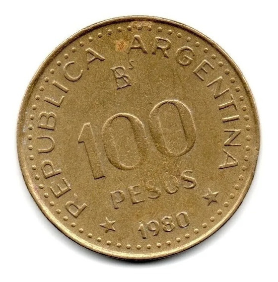 Moneda Argentina De 100 Pesos 1979
