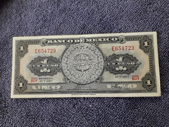 Billete 1 Peso Mexicano Nuevo