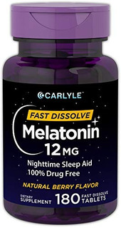 Carlyle Melatonina 12 Mg Disolver Rápido 180 Comprimidos |
