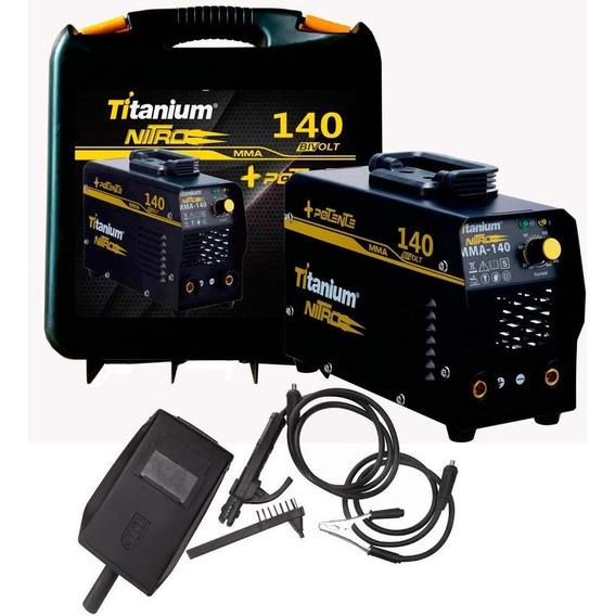 Maquina Inversora De Solda Mini Mma Bivolt Titanium 140