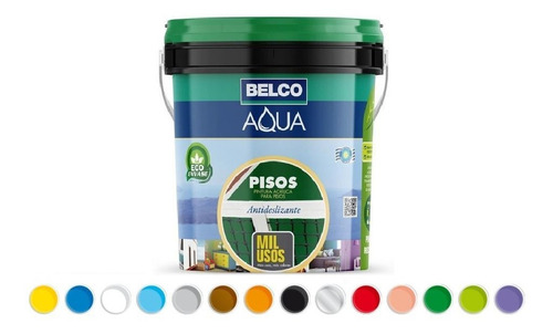 Aqua Pisos Mil Usos Belco Pintura Acrílica 3.6 Lt - Ynter