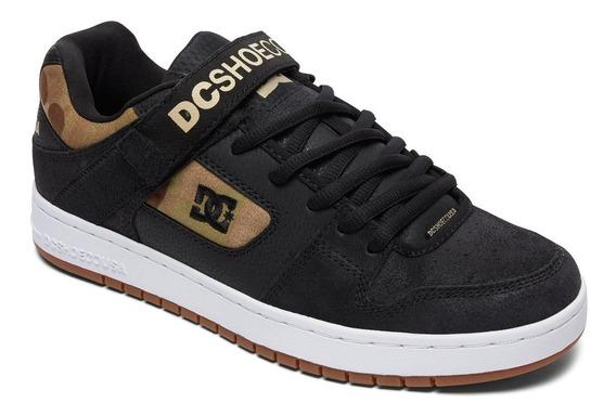 Zapatillas Dc Mod Manteca V Negro Camuflado! Coleccion 2019