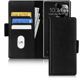 Funda Cartera Para Galaxy Note 10 Plus Piel Genuina