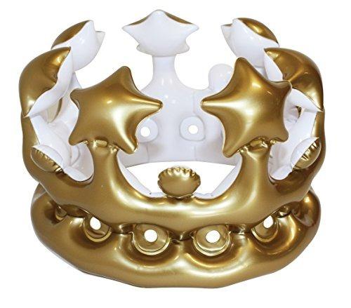 Corona Inflable De La Reina Del Día De Npw-usa, Oro