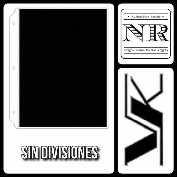5 Hojas Para Billetes - Vk Sin Divisiones - Pvc Fondo Negro