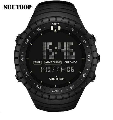 Relógio Masculino Militar Suutoop Led Digital Preto