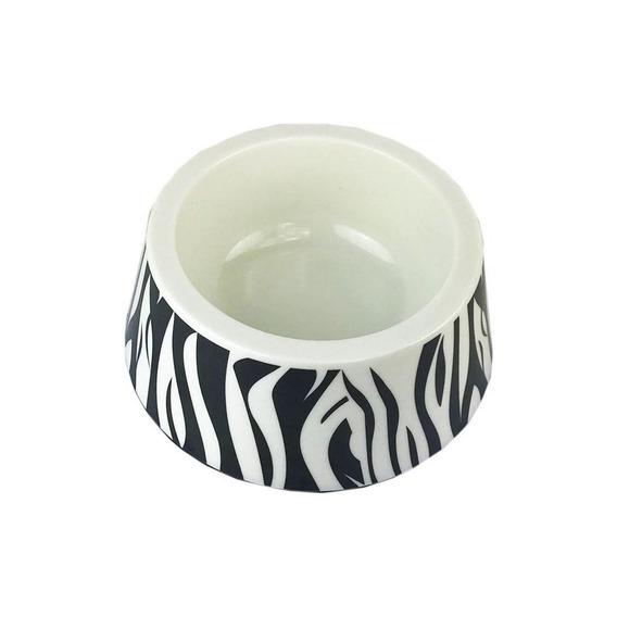 Tigela Plastica Zebra Cães Pequeno Medio Porte Jambo Pet