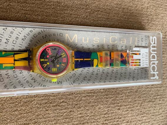 Relogio Swatch Musical. Vgs To4. Sem Uso, Na Caixa. Ano 1994