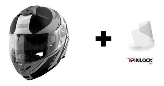 Capacete Givi X21 Globe Preto/cinza + Pinlock 12x S/ Juros