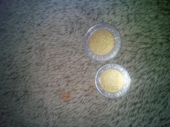 2 Monedas De Nuevos Pesos En Estado Normal