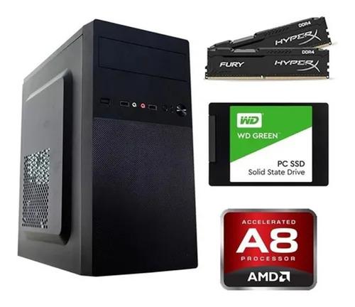 Pc Corporativo A8 5600k Memória 4gb Ssd 240gb + Acessórios