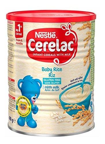 Imagen 1 de 1 de Nestle Cerelac, Arroz Con Leche, 14.11-ounce Puede (400 Gram