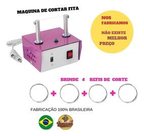 Máquina De Cortar Fita E De Fazer Fuxico + 4 Refis De Brinde