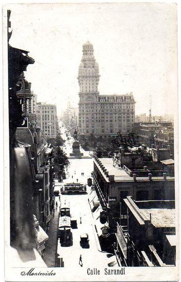 Postal Ca 1935. Montevideo, Calle Sarandí, Sin Circular